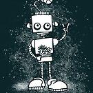 Peace Robot - white splat by jitterfly