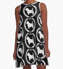 Westie Camo White A-Line Dress
