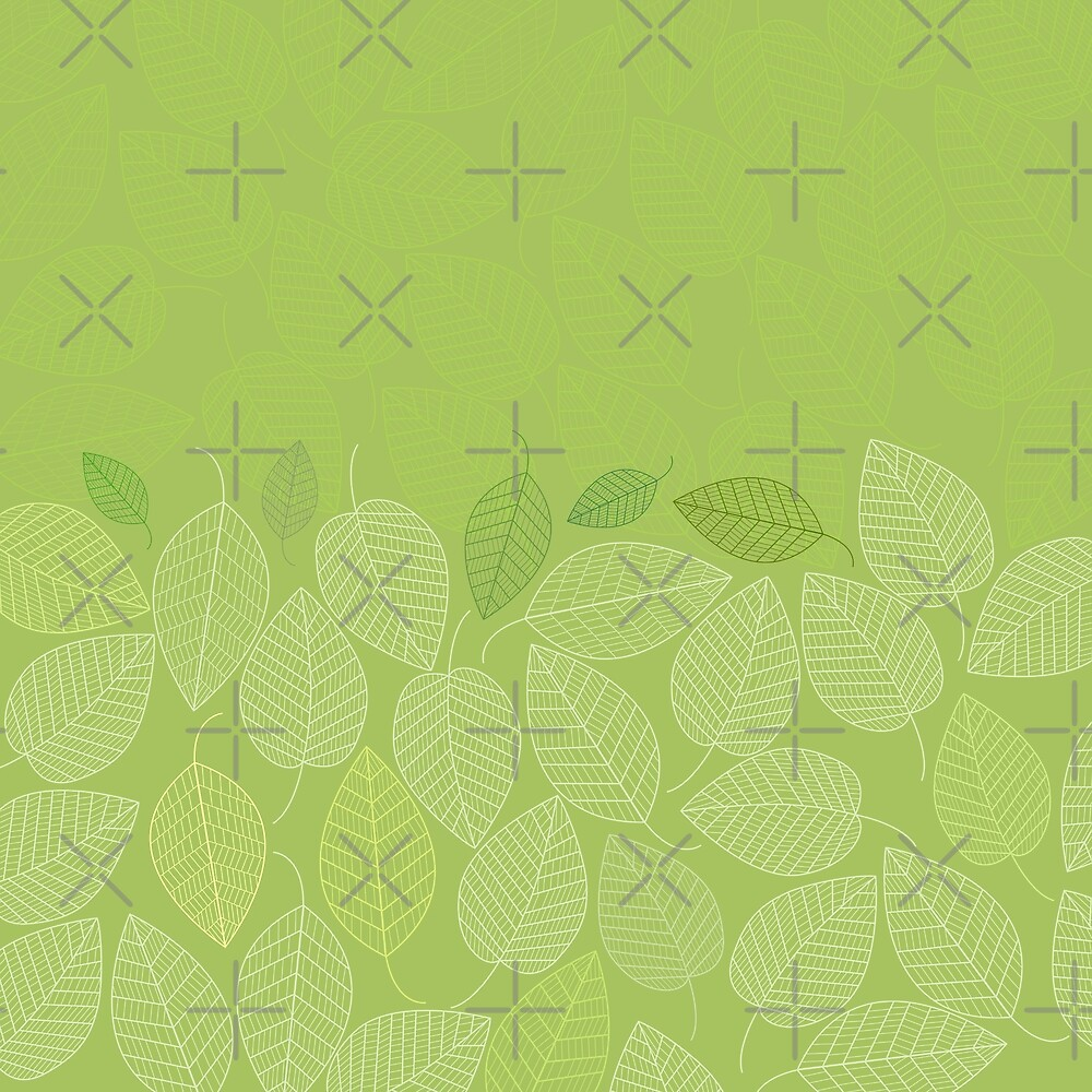 LEAVES ENSEMBLE GREENERY by Pia Schneider