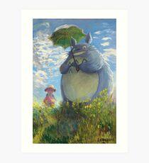 With a Parasol Art Print