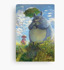 With a Parasol Canvas Print