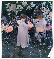 john singer sargent -  carnation, lily, lily, rose Poster