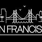 San Francisco - White City Outline by valerielongo