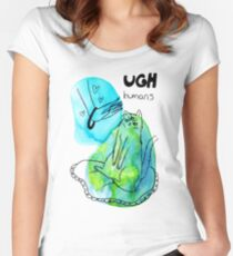Ugh Humans - Triclops Alien Cat Women's Fitted Scoop T-Shirt