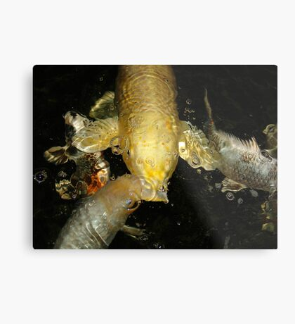 Goldie and the Bubble Machine Metal Print