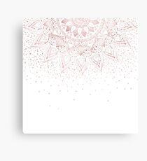 Elegant rose gold mandala confetti design Metal Print