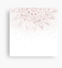 Elegant rose gold mandala confetti design Canvas Print