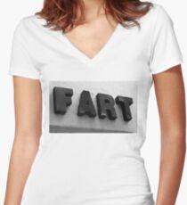 FART Women's Fitted V-Neck T-Shirt