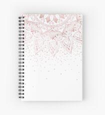 Elegant rose gold mandala confetti design Spiral Notebook