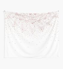 Elegant rose gold mandala confetti design Wall Tapestry