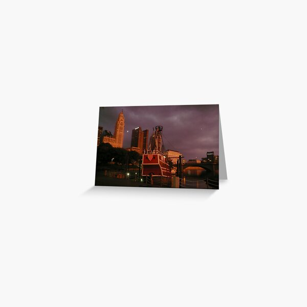 Night Vision City Style Greeting Card