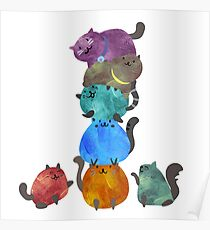 A Pile Of Cats Poster