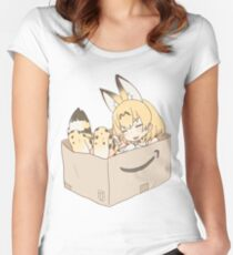 Serval Cat in a Box Kemono Friends Women's Fitted Scoop T-Shirt