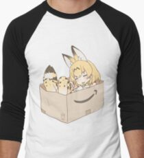 Serval Cat in a Box Kemono Friends Men's Baseball ¾ T-Shirt