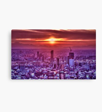 Sunset over Tokyo Canvas Print