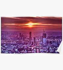 Sunset over Tokyo Poster