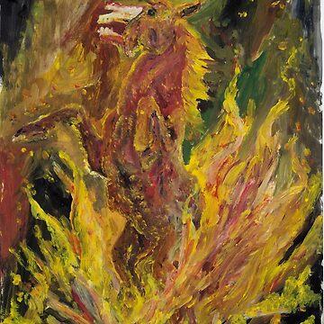BUSH FIRE HORROR by OutlawArt