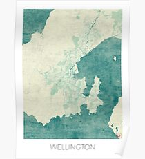 Wellington Blue Vintage Poster