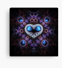 Sapphire heart Canvas Print