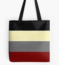 Brush Stroke Stripes: Black, Cream, Grey, and Red Tote Bag