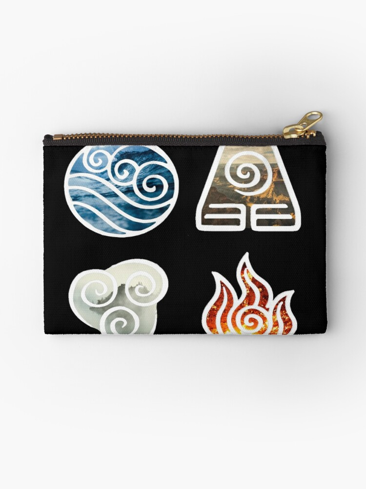 Avatar The Last Airbender Element Symbols Studio Pouches By