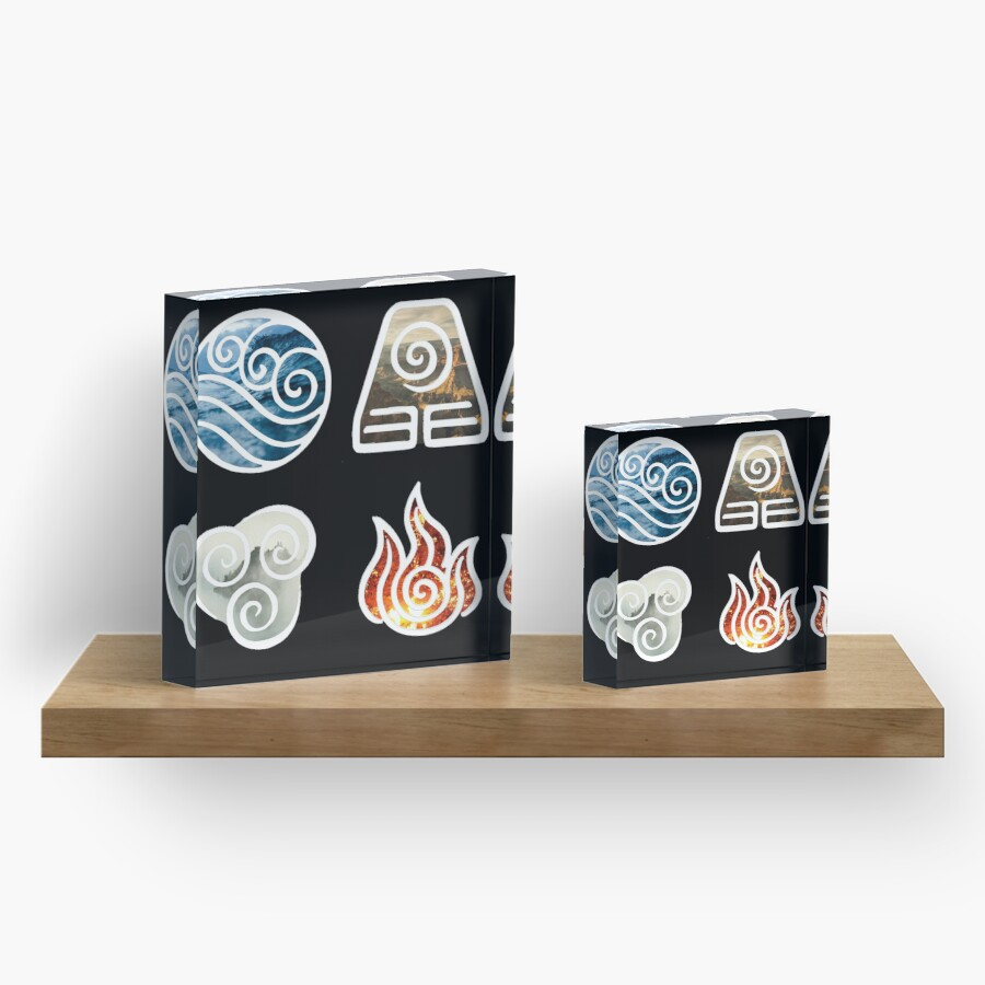 Avatar the last airbender element symbols acrylic blocks by avatar the last airbender element symbols biocorpaavc Image collections