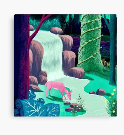 The Whispering Waters of Eventide Vale Canvas Print