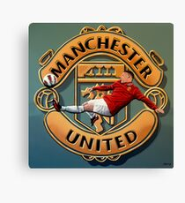 Manchester United With Rooney Painting Canvas Print