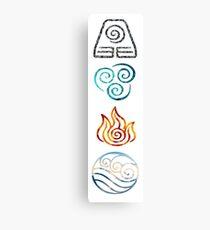 Avatar die letzten Airbender Element Symbole Leinwanddruck