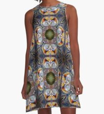 Rainbows in Orbit Psychedelic Abstract A-Line Dress