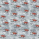 Little Mountain Foxes Grey by inkedinred