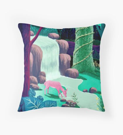 The Whispering Waters of Eventide Vale Throw Pillow