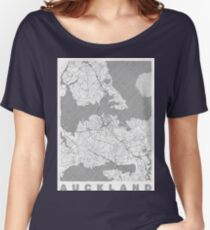 Auckland Map Line Women's Relaxed Fit T-Shirt