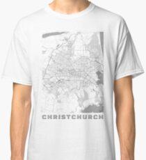 Christchurch Map Line Classic T-Shirt