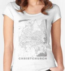 Christchurch Map Line Women's Fitted Scoop T-Shirt
