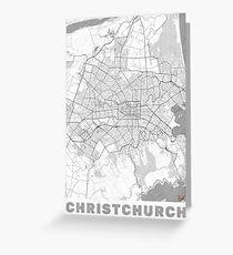 Christchurch Map Line Greeting Card