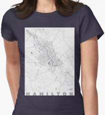 Hmilton Map Line Womens Fitted T-Shirt