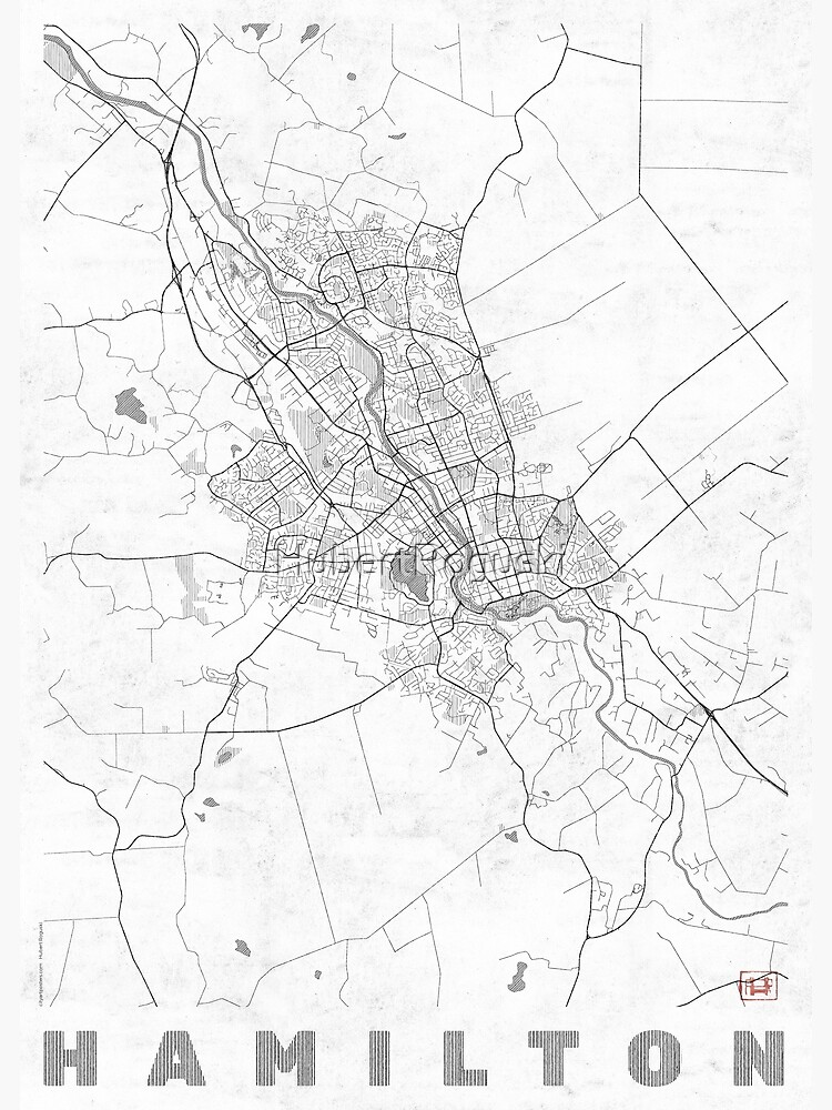 Hamilton Map Line by HubertRoguski