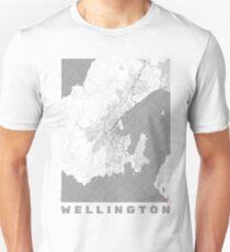 Wellington Map Line Unisex T-Shirt