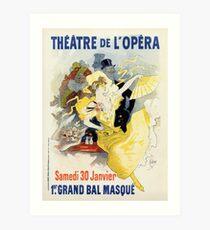 Art nouveau Paris masquerade ball 1896 Art Print