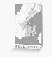 Wellington Map Line Greeting Card