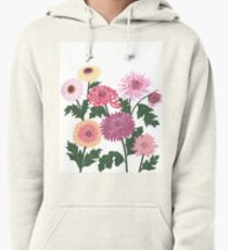 Purple and pink flower power Pullover Hoodie