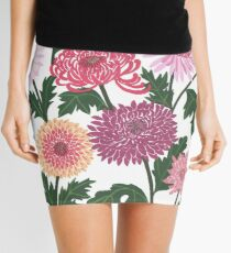 Purple and pink flower power Mini Skirt