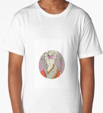 Oriental flower Long T-Shirt