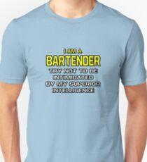 Funny Bartender .. Superior Intelligence Unisex T-Shirt
