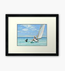 Ground Swell Oil Painting by Edward Hopper Framed Print