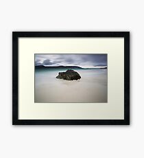 a mighty rock, balnakeil beach Framed Print