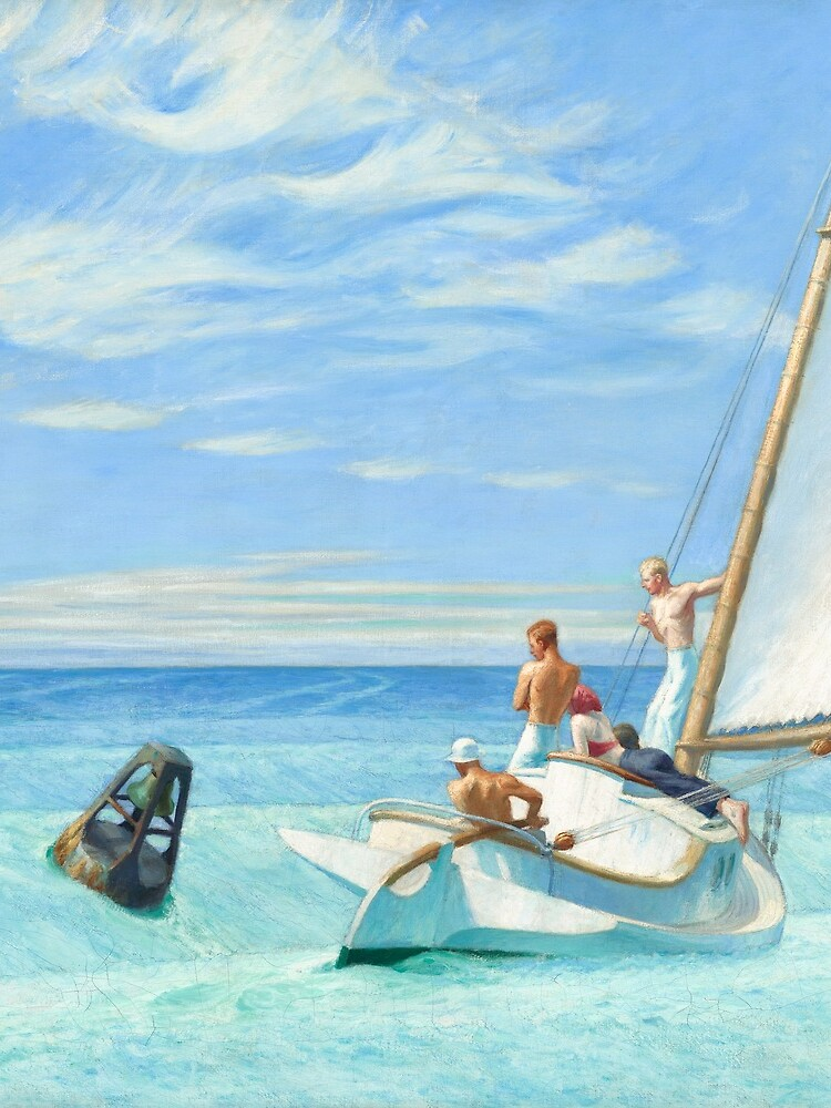 Ground Swell Oil Painting by Edward Hopper by podartist