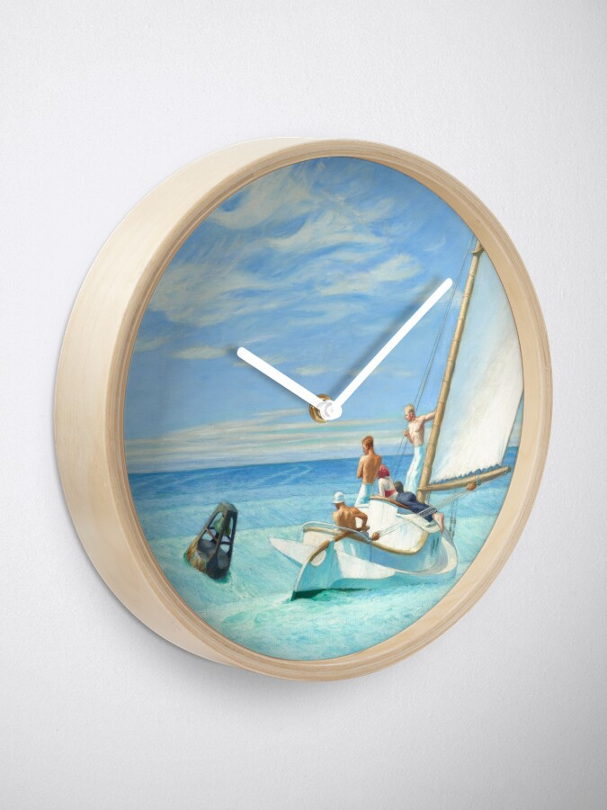Alternate view of Ground Swell Oil Painting by Edward Hopper Clock