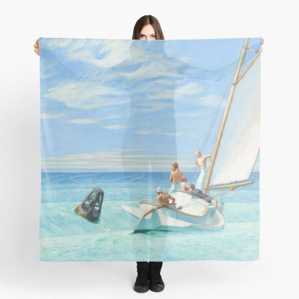 Ground Swell Oil Painting by Edward Hopper Scarf